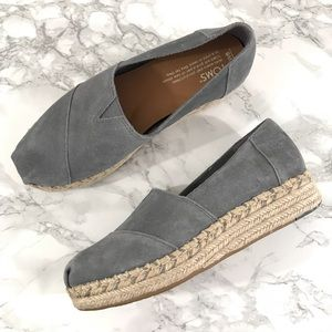 Toms Women's Blue Espadrilles Shoes Size 6